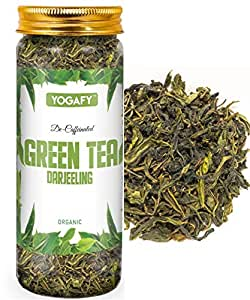 YOGAFY - Darjeeling Green Tea | Decaf Tea for Digestion and Weight Loss | 100 Gram - 100 Cups |
