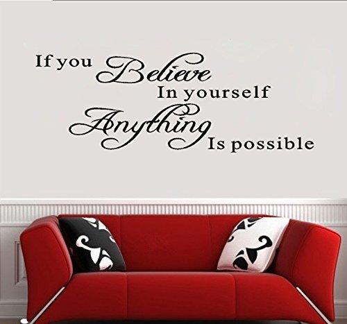 Adesivi murali frase citazione stickers frasi scritte muri if you don't ask, the answer is always no decorazione parete