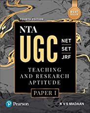 NTA UGC NET/SET/JRF : Teaching & Research Aptitude Paper 1|Fourth Edition|BY Pea