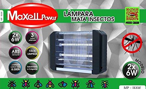 MAXELL POWER LAMPARA ELECTRICA ANTIMOSQUITOS ANTI MOSQUITOS INSECTOS 30M 12W MATAMOSQUITOS