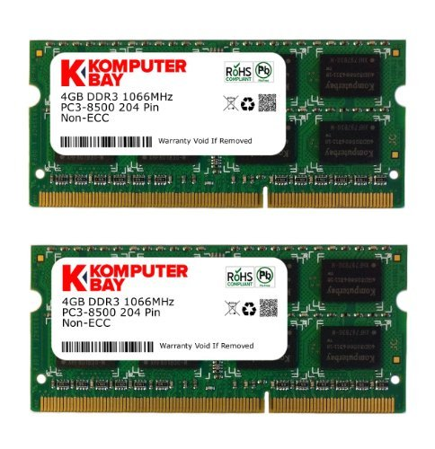 Komputerbay KB_8GB_2X4GB_HS_DDR3_HYNIX_SO1066_1 - RAM da 8GB (2x 4GB) 204 Pin 1066MHz PC3 8500 DDR3 SODIMM