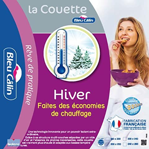 Bleu Câlin KTCIC5 Couette Hiver Très Chaude Blanc 140x200 cm