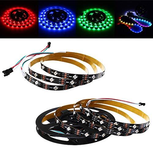 DADEQISH 1M 2M 6W 12W IP20 WS2812 IC SMD5050 Nicht-Wasserdichte Modul Bead Tilt 45 RGB LED Streifen Licht DC5V LED-Streifen (Color : 2M) Tilt-modul
