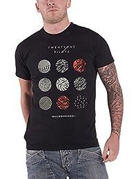 Twenty One Pilots T Shirt Blurryface Pattern Circles Official Mens Black