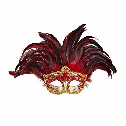 Kostüm Colombina - Widmann wdm11743-Kostüm für Erwachsene Maske Incas Colombina mit Glitzer und Pailletten, Mehrfarbig, Einheitsgröße