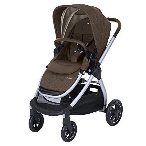 Maxi Cosi Adorra komfortabler Kombi Kinderwagen für ihr Kind, mit riesigem Einkaufskorb, einhändigem Faltmechanismus und geringem Gewicht von unter 12 kg ab Geburt bis ca. 3,5 Jahre, nomad brown