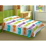 Burrito Blanco - Edredón Fashion 61 para cama 90x190/200 cm, multicolor