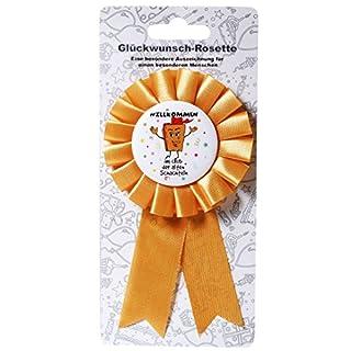 bb10 Schmuck Scherzartikel Anstecker Willkommen im Club der Alten Schachteln Glückwunschrosette Rosette ALS Geburtstagsgeschenk oder Gagartikel für Party oder andere Anlässe