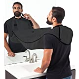 HOUZIE Beard Apron Hair Catcher For Quick Disposal Of Facial Hair Mess (Black)