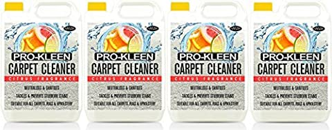 Mylek Professional Concentrate Carpet Shampoo 4 X 5 Litres - Suitable for all Machines (Citrus Fragrance) by MYLEK ULTIMA +