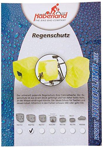 Haberland Regenschutz für Doppeltaschen gelb, One Size