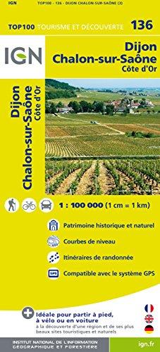 Top100136 Dijon/Chalon-Sur-Saone 1/100.000