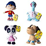 Dreamworks - Noddy Toyland Detective - Set of ALL 4 - 20cm 8 inch Soft Plush Toys - Pat Pat, Noddy, Smartysaurus & Bumpy Dog
