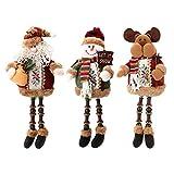 Weihnachten Spielzeug Charakter Forepin® Sitzen Tischdekoration Weihnachtsmann Puppe für Weihnachtsparty Deko - (3 Stück enthalten)