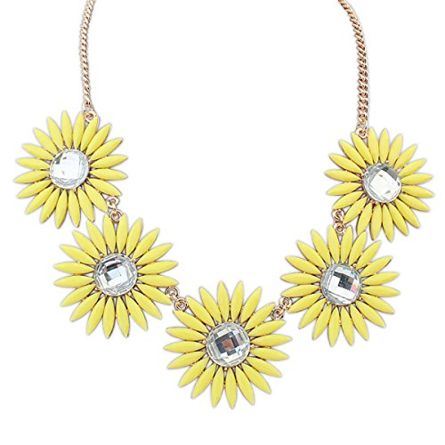 Mode Ruili Sauvage Collier Sweet Gem Fleur yellow