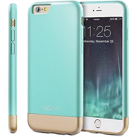 Apple iPhone 6s Plus funda, Vena [iSlide] [Dock friendly] Slim-Fit Rubber Coated cubierta dura de la PC para Apple iPhone 6s Plus / 6 Plus (5.5