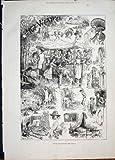 copie 1881 de londres d abatteur de temps chaud de croquis vieille