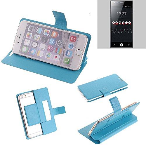 K-S-Trade Flipcover für ID2ME ID1 Schutz Hülle Schutzhülle Flip Cover Handy case Smartphone Handyhülle blau