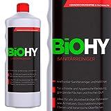 BIOHY WC-Reiniger 1 Liter Fl. 1er Pack Öko Urinsteinentferner extra stark, Toilettenreiniger Konzentrat, dickflüssiges Reinigungs-Gel, Hygiene&Frische Duft, Profi Bio-Reiniger, Reinigungsmittel