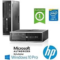 PC HP Compaq 8200 Elite Core i5-2400 3.1GHz 4Gb Ram 250Gb DVD-RW SFF Windows 10 Professional - MAR (Ricondizionato Certificato)