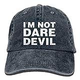 Walnut Cake Hüte,Kappen Mützen Sports Denim Cap I'm Not Daredevil Men Women Snapback Casquettes Adjustable Baseball Hat