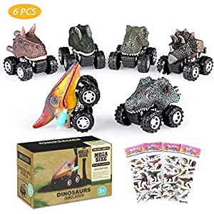 joylink Coches Dinosaurios,6 Pcs Pull