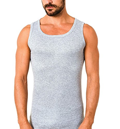 FTSD 5er-Pack FindTheSecretDreams Herren Doppelripp Unterhemden