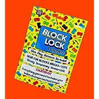 Block Lock ® Toy Glue Starter KIT - for Lego ®, MEGA BLOKS, KINEX and Other Toys, Building Bricks + Blocks Customise Clothes + Accessories 30 ml