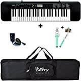 Casio CTK245 keyboard with Adapter & Blueberry Bag along with Selfie stick