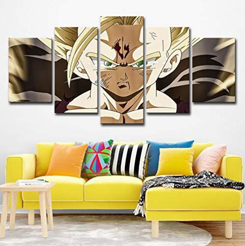 SHANGLY Impresión en Lienzo 5 Paneles Pintura Mural...
