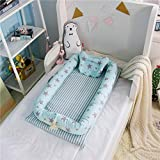 iStary Kinderbetten Bionisches Bett Herausnehmbares Waschbares Faltbare Travel Bed Multifunktionale Babyzubehör Schlaf Zum Schlafen Artefakt 0-24 Monate