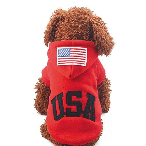 huuation Pet Hund Kleidung Haustier Hund Katze Puppy Hoodies Coat Pullover Kostüme Kleidung für kleine Hunde/Welpen/Teddy (Verspielt Welpen Kostüme)