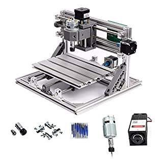 PW Mini Diy CNC2418 +2500 mw Laser GRBL control, with ER11 chuck 3Axis pcb pvb Milling machine, Wood Router Engraver CNC 2418