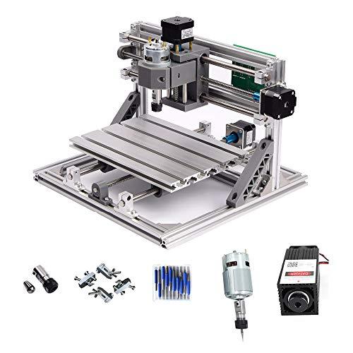 CNC 1610+ 2500mW láser máquina de grabado CNC PCB fresadora madera Router para DIY principiante cnc1610