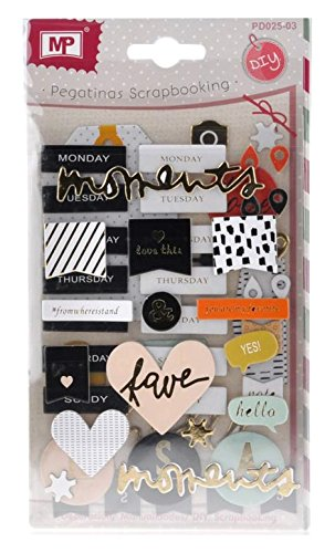 MP PD025–03 Sticker-Set für Scrapbooking, 3 Tüten