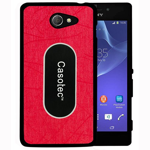 Casotec Metal Back TPU Back Case Cover for Sony Xperia M2 - Red  available at amazon for Rs.125