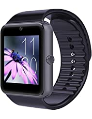 YarrashopA® 2015 Newest Wearable Bluetooth Smart Watch GT08 With SIM Card Slot Smart Health Phone Watch For Andriod Iphone Samsung IOS Smartphone Bracelet Smartwatch(Black), [Importado de Reino Unido]