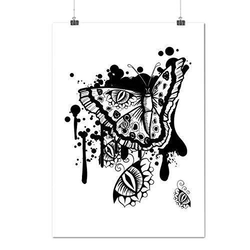 graphique-papillon-insecte-art-matte-glace-affiche-a2-60cm-x-42cm-wellcoda