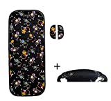 Tris & Ton conjunto colchoneta silla paseo + empuñadura funda protector manillar modelo Monitos + protector arneses (Trisyton) (Black)