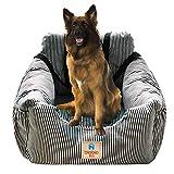 Hunde Autositz, Waschbar Auto Hundebett, Rutschfeste Katze Reisen Front Booster Sitze mit Abnehmbare HundeKissen (Rose)