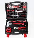 SINBROL 47 PC Multi Haushalts-Werkzeugkoffer Werkzeugset Werkzeugsatz Elektrowerkzeuge DIY Reparatur Werkzeuge Kits Set Inkl. Hammer Schraubendreher Schraubenschlüssel-Set für Garage Auto...