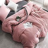 Xianw Queen/Full Steppdecke Alternative Tröster All Season - Hotel Kollektion Luxus Soft Warm Fluffy Hypoallergen Reversible Bettbezug Mit Ecke,C,150X200cm(59X79inch)