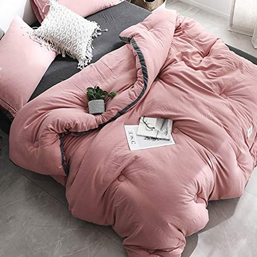 Xianw Queen/Full Steppdecke Alternative Tröster All Season - Hotel Kollektion Luxus Soft Warm Fluffy Hypoallergen Reversible Bettbezug Mit Ecke,C,150X200cm(59X79inch) -