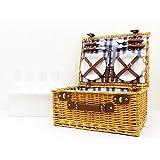 Henley 4 personne osier panier pique-nique bourriche avec des accessoires