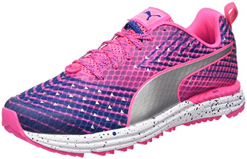 Puma Speed 300 Tr Ignite Wn, Chaussures de Running Compétition Femme Rose (Knockout Pink-true Blue 02)