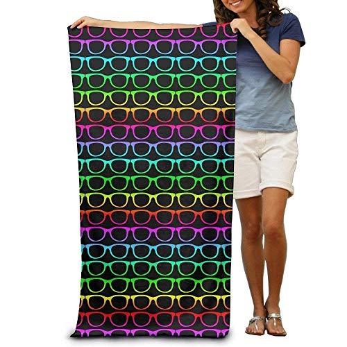 xcvgcxcvasda Cool Colorful Sunglasses Adults Cotton Beach Towel 31