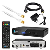 Kabel Receiver DVB-C SET: HB DIGITAL HD 350C DVB-C Receiver für Kabelfernsehen + 2m HDTV Antennenkabel vergoldet mit Mantelstromfilter weiß + HDMI Kabel (Full HD Ready, HDTV, HDMI, SCART, USB 2.0, SPDIF Koaxial Ausgang, 230V/12V Camping Receiver)