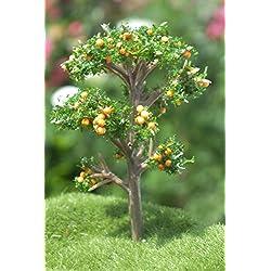 Boutique d'isacrea Shop-isacrea Miniatur aus Synthetik: Obstbaum orange/grün Höhe 7cm (20)