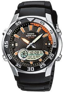 Reloj de caballero CASIO Collection AMW-710-1AVEF de cuarzo, correa de resina color negro (con cronómetro, alarma, luz) de Casio