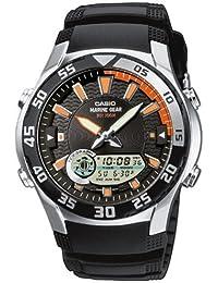 CASIO Collection AMW-710-1AVEF - Reloj de caballero de cuarzo, correa de resina color negro (con cronómetro, alarma, luz)